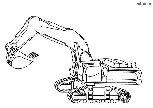 Dibujo de Excavadora de oruga para colorear