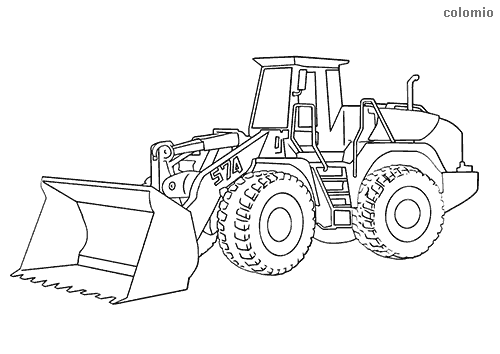 Big loader coloring page