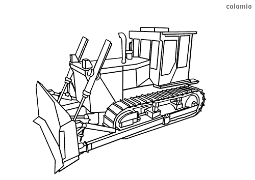 Bulldozer coloring sheet