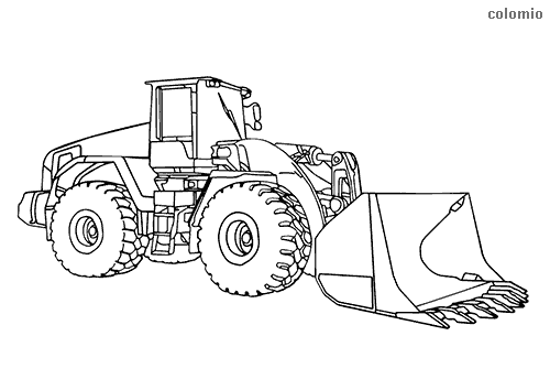 Heavy loader coloring page