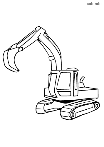 Excavators Coloring Pages Free Printable Excavator Coloring Sheets
