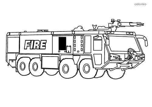 Fire Trucks Coloring Pages Free Printable Fire Coloring Sheets