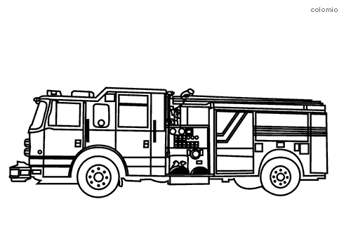 Cobb County fire truck coloring page