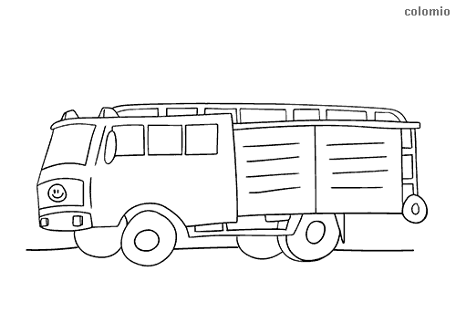 European fire truck coloring page