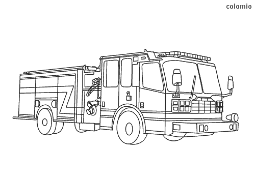 Houston Fire Truck coloring page