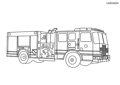 Los Angeles Fire Truck coloring page