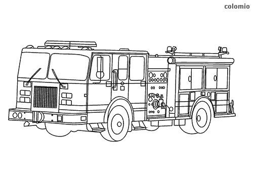 San Francisco Fire Truck coloring page
