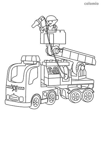 Simple fire truck coloring sheet
