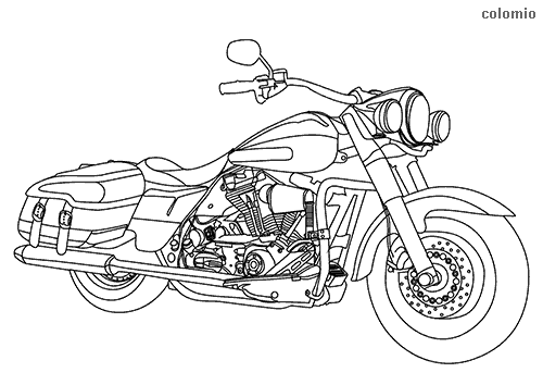Cruiser motorcycle coloring pages