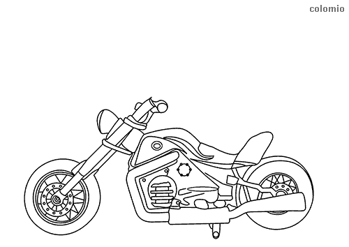 Simple chopper coloring sheet