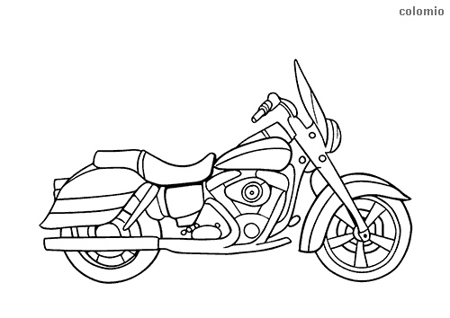 Simple cruiser coloring sheet