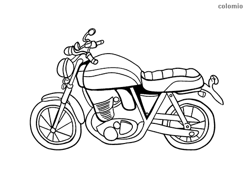 Simple motorbike coloring pages
