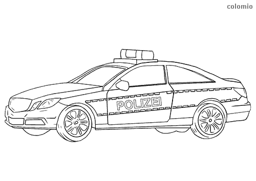 Coupe police car  coloring page