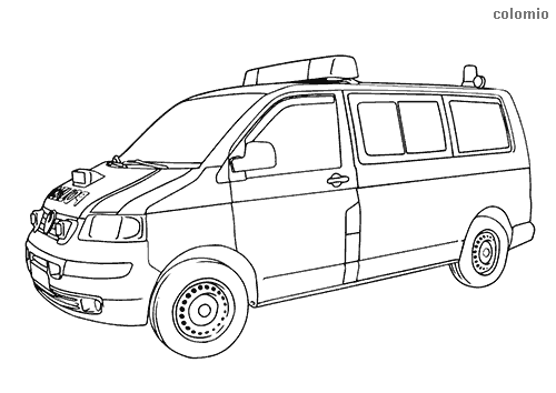 Police Transporter coloring pages