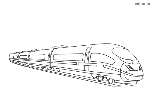 High-speed rail coloring page