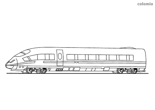 High speed train coloring sheet