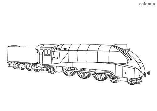 Dibujo para colorear de Locomotora Mallard