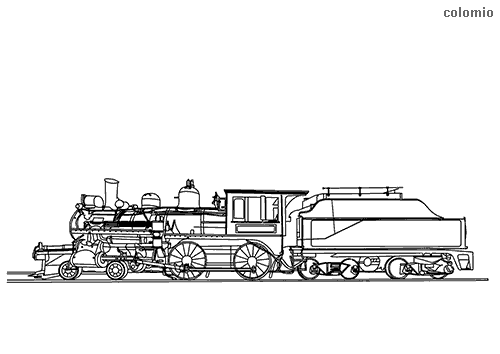 Dibujo para colorear de Ferrocarril en marcha (South Simcoe)