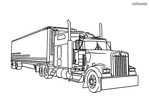 - Trucks Coloring Pages » Free & Printable » Truck Coloring Sheets