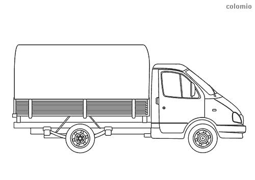 Dibujo de Camión de transporte para colorear